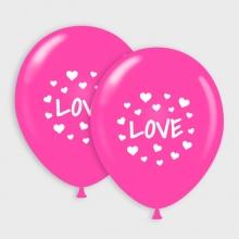Roze Love ballonnen