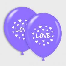 Paarse Love ballonnen
