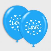 Blauwe Love ballonnen