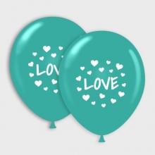 Turquoise Love ballonnen